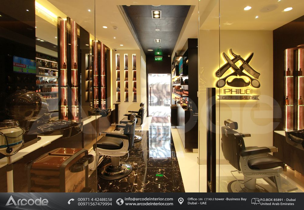 Hair Section Design Gents Salon