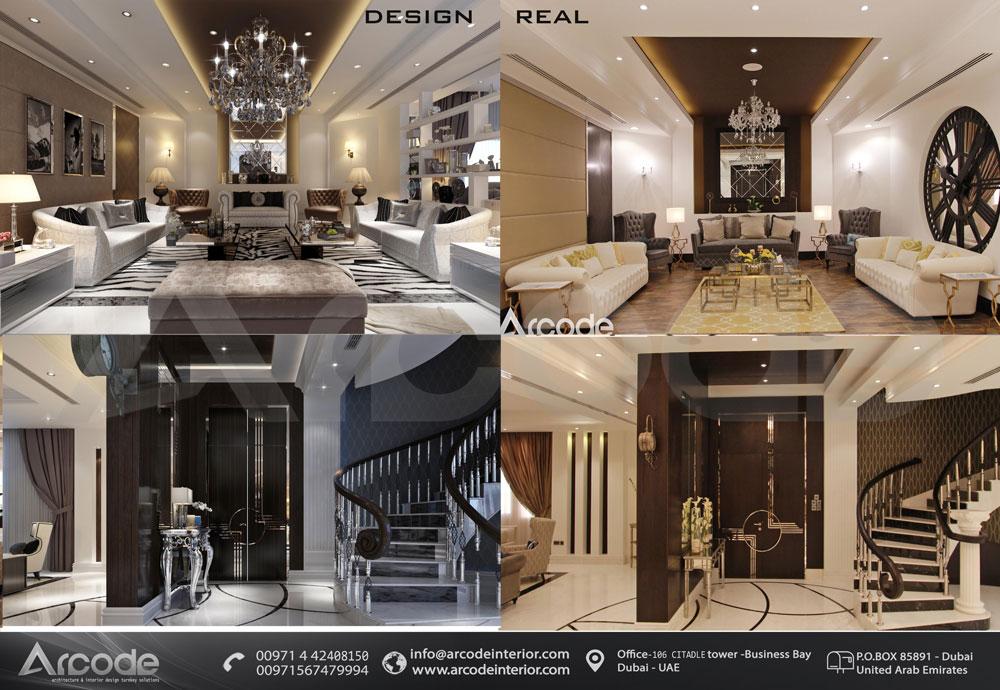 Living Area & Lobby btw Design & Built
