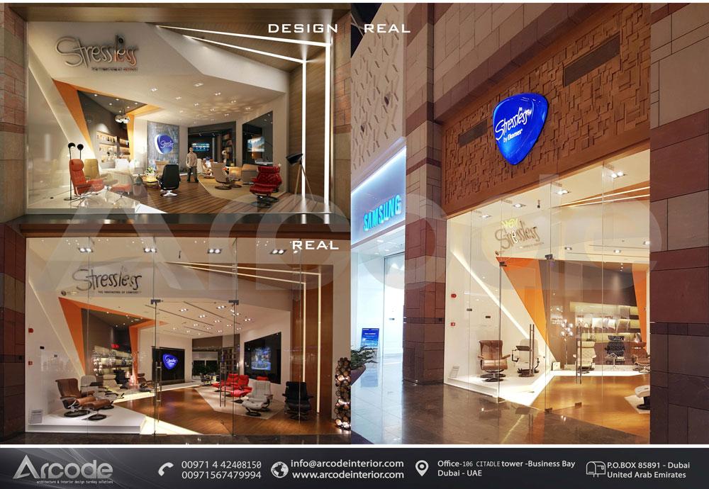 Stressless Showroom btw Design & Built
