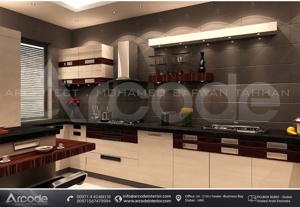 Dark colored Modern Kitchen
