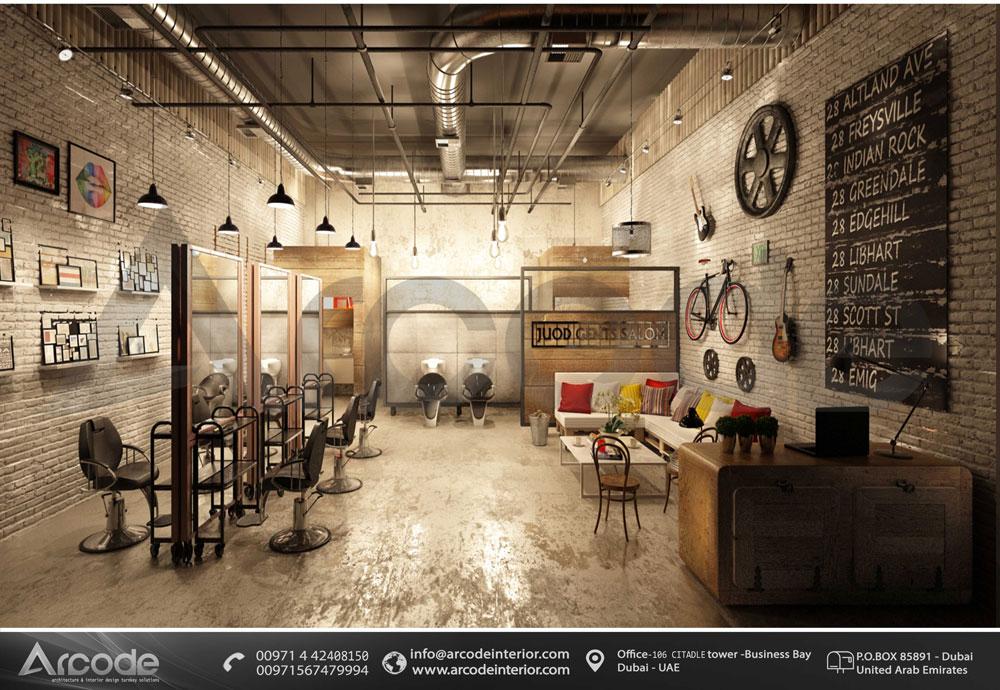 Industrial Style Salon Design