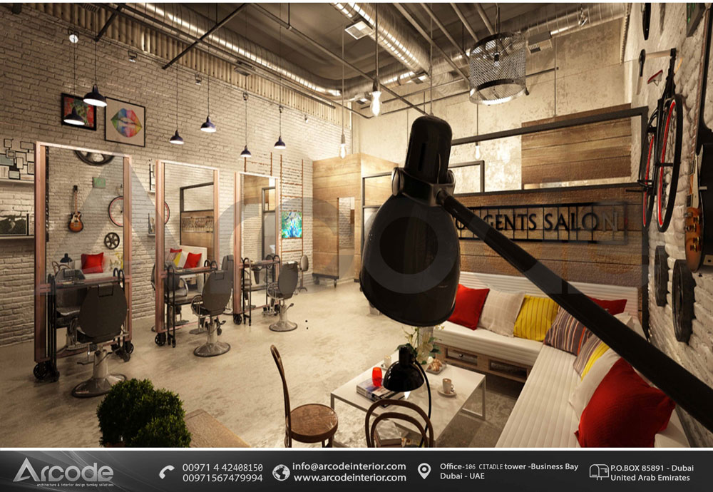 Industrial Style Salon Design