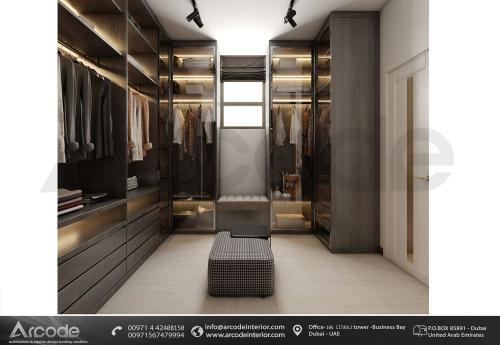 غرفة ملابس حديثة