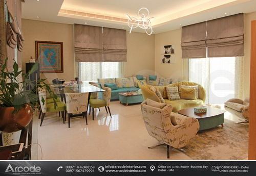غرفة جلوس بالوان لطيفة