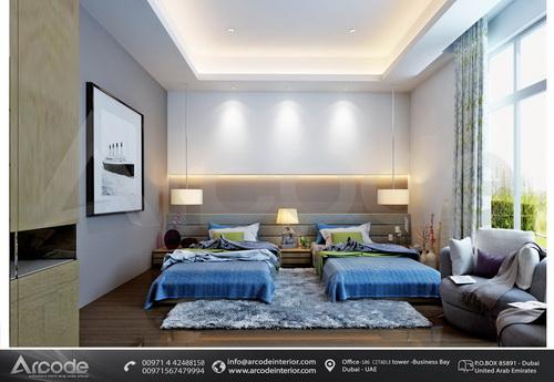 double Boys bedroom