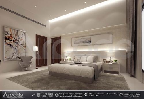 Bedroom with office corner