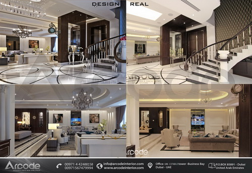 Villa Entrance & Lobby btw Design & Built
